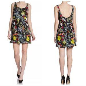 Alice + Olivia Amazonian Print Silk Mini Dress